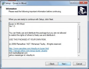 Al Quran in the Word 2