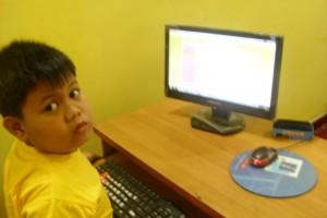 daffa - kelas 1 sd MI Gading - belajar komputer di LKP KEMBAR