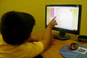 daffa - kelas 1 sd MI Gading - belajar berhitung lewat IXL di LKP KEMBAR