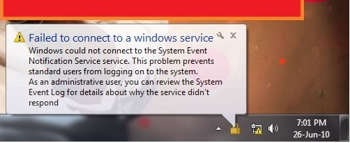 Cara mengatasi Failed to connect to a windows service Windows 7