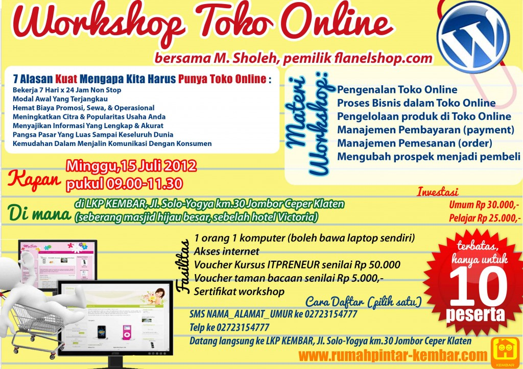 workshop toko online 2012