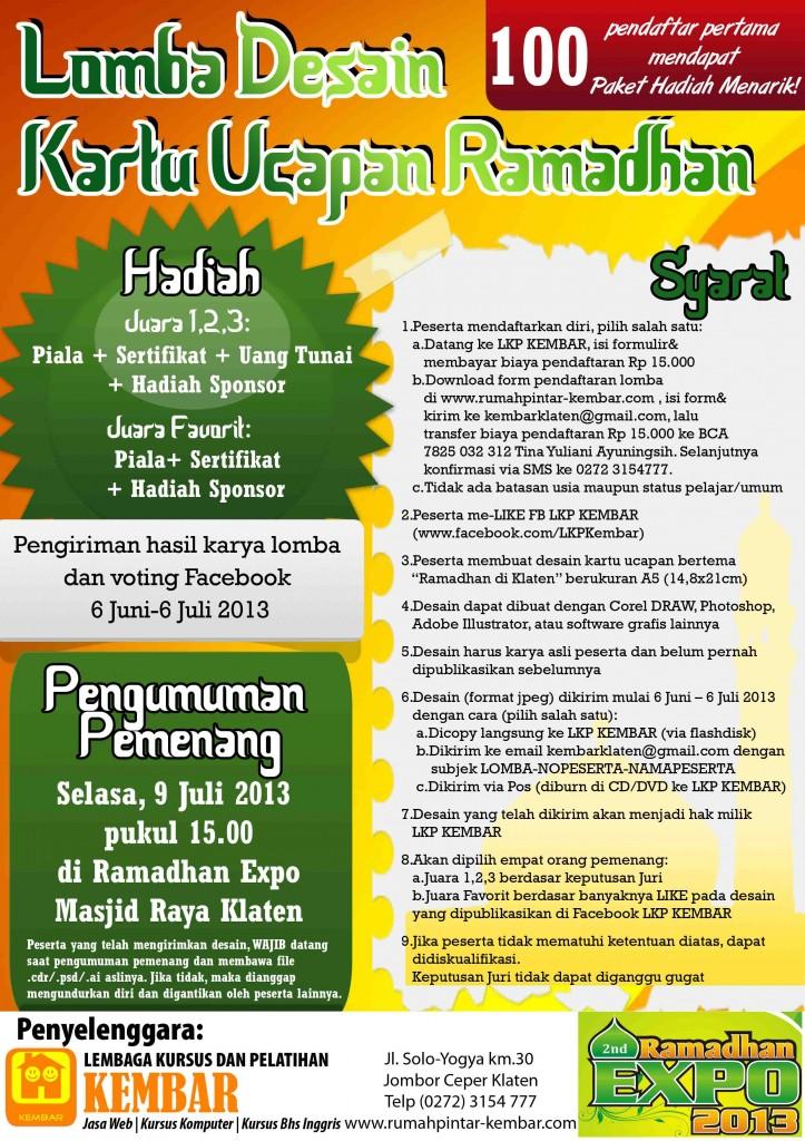 LOMBA DESAIN JUNI 2013 - ramadhan expo
